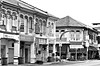 Shophouse Corner (SINGAPORE) (ID Hearn Mackinnon) Tags: singapore singaporean asia asian south east 2017 shop house shophouse shopfront black white monochrome architecture street buildings old traditional fading historic chinese china city urban inner corner