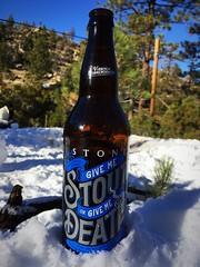 Happy New Year (waltarrrrr) Tags: stonebrewery givemestoutorgivemedeath stout bottle angelesnationalforest newyearsday snow 2017