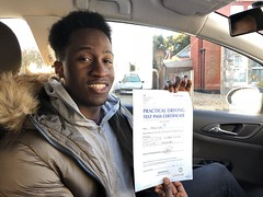 Congratulations Bobby Enebi passing his practical test with only 3 minor faults! First attempt pass under my instructions!   www.leosdrivingschool.com
