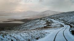Mountain Road (mickreynolds) Tags: achillcomayo february2018 ireland nx500 wildatlanticway snow scenic mountain