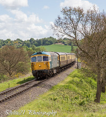 20170518-IMG_7943 (deltic21) Tags: 33108 331 brcw bagpipe shove crompton br british rail railways railway track tracks train trains loco traction diesel blue preserved preservation restored gala severn valley svr classic event brblue locomotion locomotive transport rails regiments outside motion clag thrash yellow retro rolling stock engine passenger coaches station canon colour