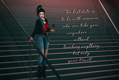 The best date is to be with someone who can take you anywhere without touching anything but your heart... (Neda Andel ~SLooK4U Blog) Tags: opale fashiowl complex blueberry 3d mesh tcf thechapterfour rose stairs