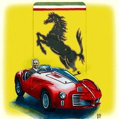 Daily Sketch II - Day #15,151 (hinxlinx) Tags: enzo ferrari car vehicle 125s laferrari stallion italion portrait illustration