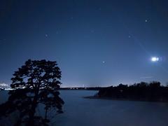 (thom1331) Tags: night winter cold calm moon lunar stars sky snow