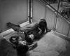 Street life (sugarhouse2) Tags: manila makati philippines street stairs sidewalk sleep rest tired kids blackandwhite asia dirty southeastasia