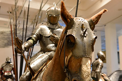 Armour For Man and Horse (c. 1570) (Bri_J) Tags: royalarmouries leeds westyorkshire uk museum militarymuseum yorkshire nikon d7200 armour knight horse mace italianarmour mountedknight horsearmour
