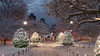 First Snow in Boston Dec 2017 (michaelward245) Tags: boston bostoncommon snowy dawn bostonpublicgarden winter christmas lights trees path city park wonderland peaceful festive holiday