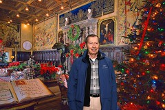 In the Assembly Room at Hearst Castle, December 20, 2017 (lhboudreau) Tags: hearstcastle casagrande lacasagrande bighouse thebighouse mediterraneanrevival estate theenchantedhill lacuestaencantada house castle home hearst williamrandolphhearst park statepark californiastatepark newspaperpublisher building architecture indoor indoors sculpture sculptures people ornamental ornaments artwork hilltophouse juliamorgan wallhanging wallhangings tapestry tapestries plaques plaque chair chairs table tree christmastree holiday holidays decorations decoration littree lightedtree room assemblyroom sculpted marble christmas christmaslights sansimeon california poinsettias book painting paintings art