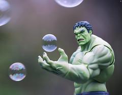Hulk Bubbles (Jezbags) Tags: marvel marvelstudios hulk bubbles green canon80d canon 80d 100mm closeup upclose macro macrophotography macrodreams hand toy toys actionfigure