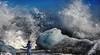 Naturgewalten (ellen-ow) Tags: eisberge europa island iceland wellen brandung wave meer sea jökulsarlon wasser water person mensch natur landschaft landscape ellenow nikond5 eis ice
