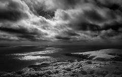 Light by Lighthouse (arun_sen) Tags: nsw australia blackandwhite coast infrared island montagueisland rocks sapphirecoast seascape water