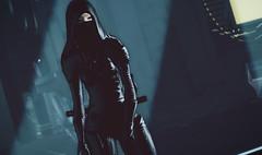 Still of the Night (riowyn.slife) Tags: insilico secondlife cyberpunk sl roleplay rp ninja shinigami evil scifi