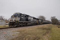 NS 6814 North (BSTPWRAIL) Tags: ns norfolk southern railroad railway rail road way sd60m c409w locomotive locomotives empty ethanol train illinois congerville