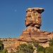 The Moon, a Sandstone Rock Column and a Raven (Canyonlands National Park)