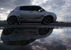 Speed (KOSTAS PILOT) Tags: suzukiswiftsport car driving automobile street road reflection puddle speed action aftertherain winter japan sky clouds kostaspilot sony sonyz2 xperia patras greece westpeloponese achaia water αυτοκίνητο αντανάκλαση πατρα χειμώνασ βροχή συννεφα συμμετρία ουρανόσ απόγευμα ηλιοβασίλεμα ηλιοβασίλεμαπατρασ πατρινοηλιοβασίλεμα χρυσοφωσ χρυσηωρα ταχύτητα symmetry symmetrical japcar sunset