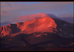 Another pretty morning (ctofcsco) Tags: canon colorado coloradosprings explore northamerica usa sky mountain landscape pikes peak pikespeak f56 200mm 1320s iso500 eos 50d ef100300mm f56l canoneos50d ef100300mmf56l telephoto rocky mountains morning sunrise esplora explored