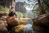 Zion Reflections (Jeremy J Saunders) Tags: pond reflection utah usa d800 nikon jjs jeremyjsaunders zionnationalpark emerald pools woman