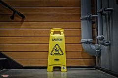 Caution (MBates Foto) Tags: ambientlight architecture availablelight building caution color existinglight hazard indoors industrial nikkorlense nikon nikond810 textures yellow spokane washington unitedstates 99201