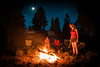 Around the Camp Fire (Paladin27) Tags: rvtrip rvlife rv motorhome minniewinnie winnebago camping campfire fire night dusk moon sky stars woods forrest utah bryce brycecanyon