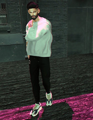 Lost in the heat of it all (MATTY // *OMG*) Tags: sl secondlife men mens male blogger blog look lotd outfit mesh clothes clothing style fashion wear dope new event mom menonlymonthly kustom9 street urban cool mf beard damselfly hair complex shirt sweater joggers pants sweats valekoer kicks sneaks sneakers runners wave