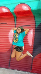 FREEZE FRAME! (therealcielsavagery) Tags: model alternative unique smile pose freeze jump thick gold gorgeous converse casual lion beautiful stunning