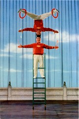 Chinese Acrobats Postcard (SwellMap) Tags: postcard vintage retro pc chrome 50s 60s sixties fifties roadside midcentury populuxe atomicage nostalgia americana advertising coldwar suburbia consumer babyboomer kitsch spaceage design style googie architecture