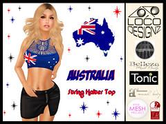 Australia Day String Halter Top (venturis_gal) Tags: lara maitreya belleza isis freya venus tmp themeshproject slink hourglass physique australia day sl second life