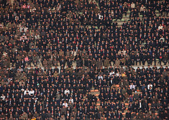 Crowd in the Kim il Sung stadium during a football game, Pyongan Province, Pyongyang, North Korea (Eric Lafforgue) Tags: adults adultsonly asia audience cheering colourimage competitivesport crowd day dictatorship dprk encouragement enjoyment excitement fanenthusiast football groupofpeople horizontal men nkorea8364 northkorea people pyongyang spectator support togetherness watching women pyonganprovince 北朝鮮 북한 朝鮮民主主義人民共和国 조선 coreadelnorte coréedunord coréiadonorte coreiadonorte 조선민주주의인민공화국 เกาหลีเหนือ קוריאההצפונית koreapółnocna koreautara kuzeykore nordkorea північнакорея севернакореја севернакорея severníkorea βόρειακορέα