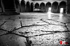 the floor (Michele Rallo | MR PhotoArt) Tags: michelerallomichelerallomrphotoartemmerrephotoartphotopho floor pavimento view vista abbazia montecassino bn bianco nero black white