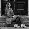 The doors (piotr_szymanek) Tags: marcelina portrait outdoor blackandwhite face eyesoncamera boots stockings fashion longhair eyes door 1k woman lady girl 20f 5k 10k 50f 20k marcelinab