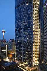 Downtown location (Can Pac Swire) Tags: calgary downtown city centre center alberta canada canadian 2017aimg0477 building architecture night photo shot image tower the bow telus 4th 4 avenue ave se earthnight