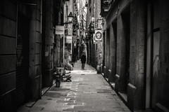 Backstreets.... (Dafydd Penguin) Tags: blackandwhite blackwhite black white monochrome mono noir bw urban city el born barcelona catalunya catalonia spain alley way back streets raw candid shots leica m10 7artisans 50mm f11