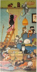 Cats at Large 3 (Leonisha) Tags: puzzle jigsawpuzzle lindajanesmith whs cats chats katzen comical
