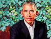 President Obama (vpickering) Tags: barackobama portraits kehindewiley nationalportraitgallery artmuseums obama portraitgallery presidentobama smithsonian wiley art artmuseum galleries gallery museum museums portrait