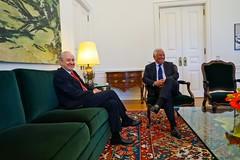 Rui Rio em reunião com o Primeiro-ministro