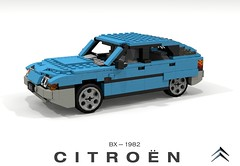Citroen BX (lego911) Tags: citroen bx 1982 1980s hatch hatchback 5dr 5door france french auto car moc model miniland lego lego911 ldd render cad povray foitsop