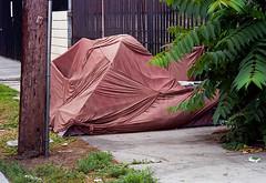 Convoluted tent (ADMurr) Tags: la dtla tent homeless sidewalk pole leica m6 kodak 400 50mm summicron cbc042