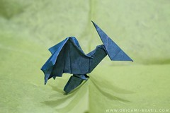44/365 Pterosaur by Anh Dao (origami_artist_diego) Tags: origami origamichallenge 365days 365origamichallenge pterosaur