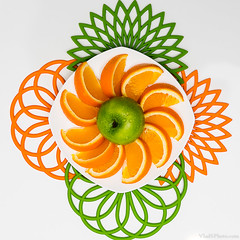 11/365 (justvbs) Tags: fruit orange apple green food abstract bright white project365 project 365 challange challenge