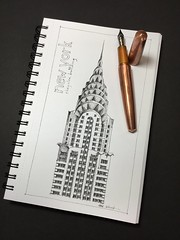 Building top series - New York (schunky_monkey) Tags: penandink ink pen fountainpen art illustration drawing draw sketching sketch nyc newyorkcity icon building architecture artdeco skyscraper newyork chryslerbuilding