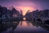 Amsterdam Reflections (dickvduijn) Tags: amsterdam netherlands holland keizersgracht sunset longexposure canal water