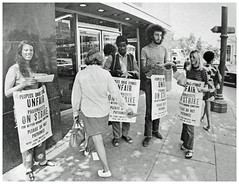 Picketing Dupont Circle People's Drug: 1970 (washington_area_spark) Tags: retail store employees united food commercial workers union local 400 people's drug cvs 1970 washington dc strike picket boycott first contract forced overtime pharmacists pharmacy