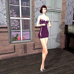 LuceMia - .::Pink Cherry::. & *PosESioN* (MISS V♛ ITALY 2015 ♛ 4th runner up MVW 2015) Tags: pinkcherry sl fashion colors hud posesion poses set dress laced leather mesh creations models lucemia