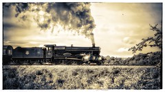 Toning up a head of Steam (JohnN60) Tags: railway lancashire east locomotive steam gwr hall witherslack park country burrs elr toned 6990