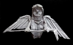 ORIGAMI : TIME KILLS! (Neelesh K) Tags: origami time kills reaper death scythe wings paper folding neelesh k