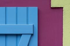 Blue shutter and pink wall (Jan van der Wolf) Tags: 175269 blinde shutter pink blue wall facade muur