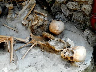 Victims at Herculaneum, buried by Vesuvius' eruption on 79 AD