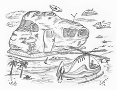 Lost (rod1691) Tags: myart art sketchbook bw scifi grey concept custom car retro space hotrod drawing pencil h2 hb original story fantasy funny tale automotive illistration greyscale moonpies sketch sexy