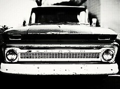Black & Heavy Chevy~ (K.Chris ~AlwaYs LeaRning~) Tags: blackwhite mono monochrome light shadow chevy chevrolet truck vehicle bw bnw noiretblanc noir bokeh blur flickrsportal