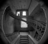 old staircase (jkatanowski) Tags: forgotten abandoned decay urbex urban exploration poland europe indoor mansion fisheye bw